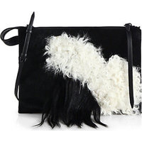 3.1 Phillip Lim Large East/West Mixed-Media Depeche Clutch photo