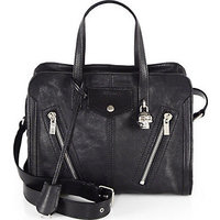 Alexander McQueen Padlock Zip-Around Biker Satchel photo