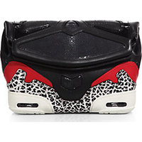 Alexander Wang Sneaker-Style Leather & Stingray Clutch photo