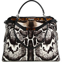 Fendi Peekaboo Calf Hair Satchel photo