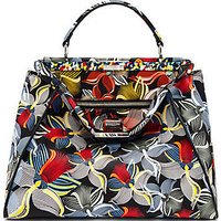 Fendi Peekaboo Large Orchid-Print Leather Satchel photo
