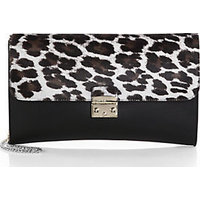 Furla Exclusively for Saks Fifth Avenue Elektra Leopard-Print Calf Hair & Leather Clutch photo