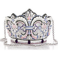 Judith Leiber Embellished Crown Clutch photo