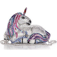 Judith Leiber Unicorn Swarovski Crystal Clutch photo