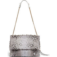 Lanvin Sugar Medium Python Studded Shoulder Bag photo