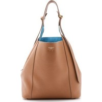 Nina Ricci Leather Bucket Bag with Contrast Lining photo