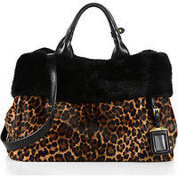 Prada Cavallino & Mink Fur Garden Bag photo
