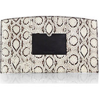 Reed Krakoff Atlantique Leather-Trimmed Snakeskin Pouch photo