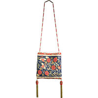Tory Burch Fisherman Embroidered Shoulder Bag photo