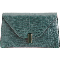 Valextra Alligator Isis Clutch photo