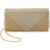 Whiting & Davis Crystal Triangle Clutch photo